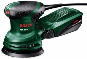Bosch Home and Garden Exzenterschleifer PEX 220 A, 1 Schleifblatt K 80, Microfilterbox (220 W, Schleifteller-Ø 125 mm, Microfilter System, Schwingzahl 4.000 - 24.000 min-1, Exzentrizität 4 mm) - 1